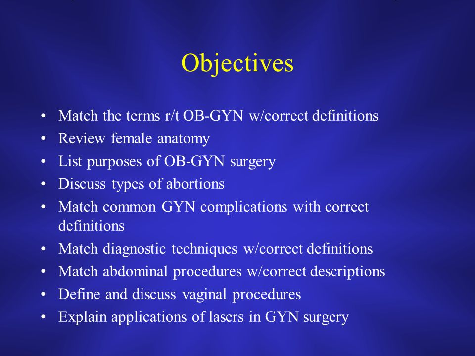 Introduction to Obstetrics & Gynecology - ppt video online