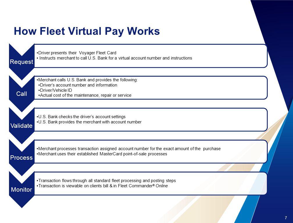 how fleet virtual pay works - Voyager Fleet Card