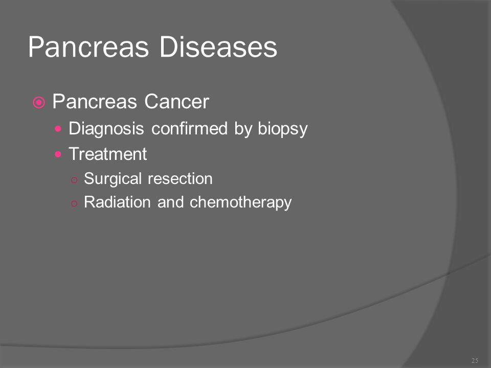 Pancreas Diseases Pancreas Cancer Diagnosis confirmed by biopsy