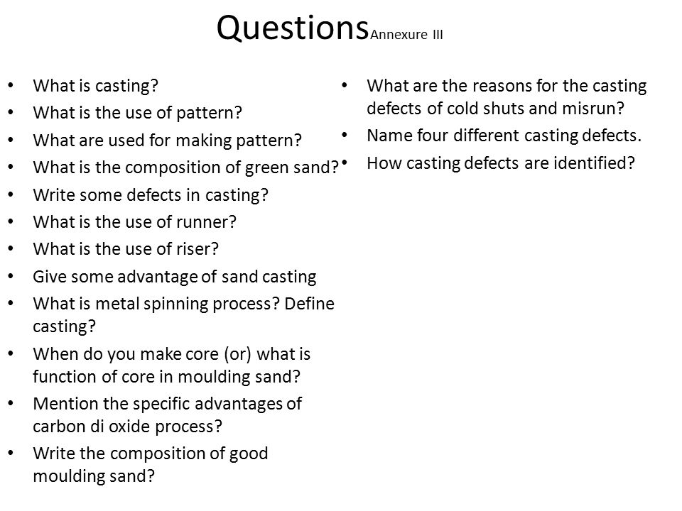 Process of making cavity is called Moulding - ppt video