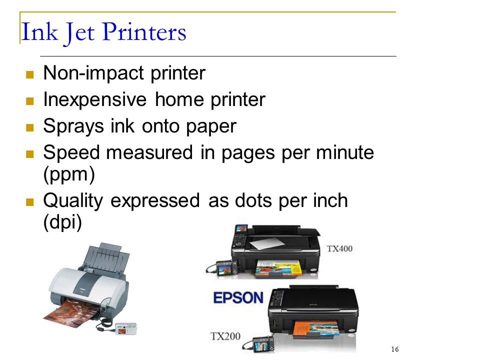 Printer its types, working and usefulness ppt video online download.