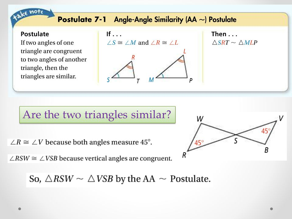 7 3 Proving Triangles Similar Ppt Download
