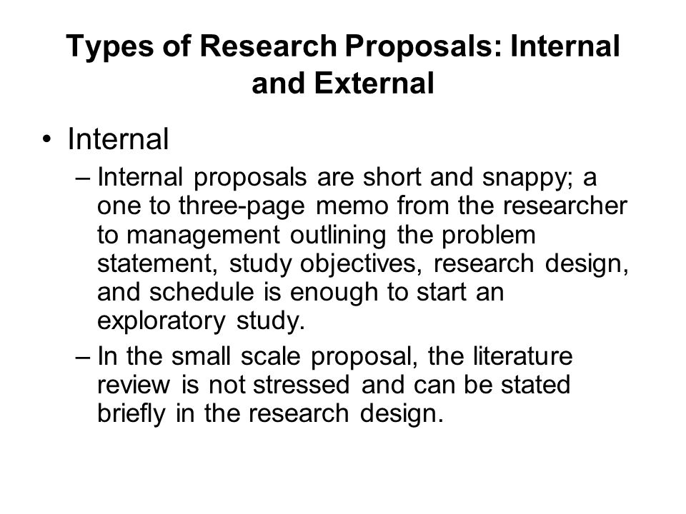 types of research proposal