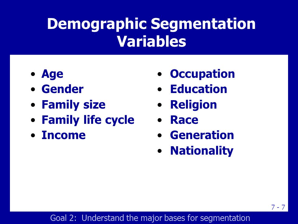 Behavioral Segmentation Variables