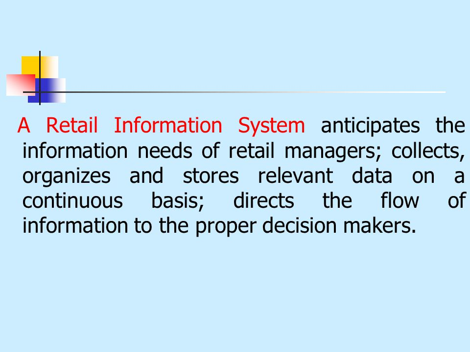 The Retail Information System Ppt Video Online Download