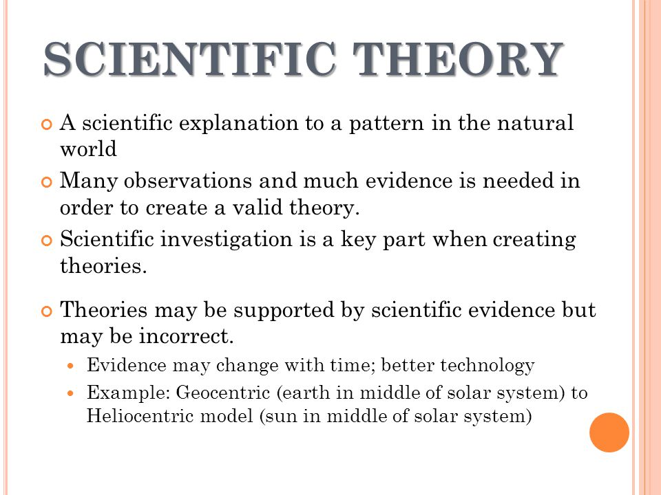The difference between scientific theories and scientific laws.