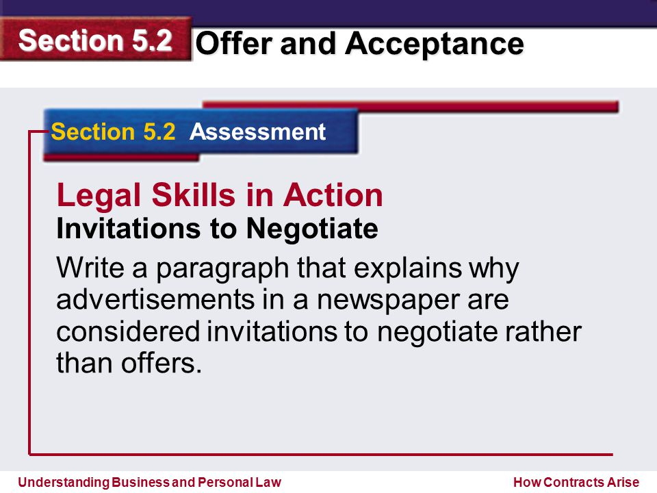 Legal Skills in Action Invitations to Negotiate