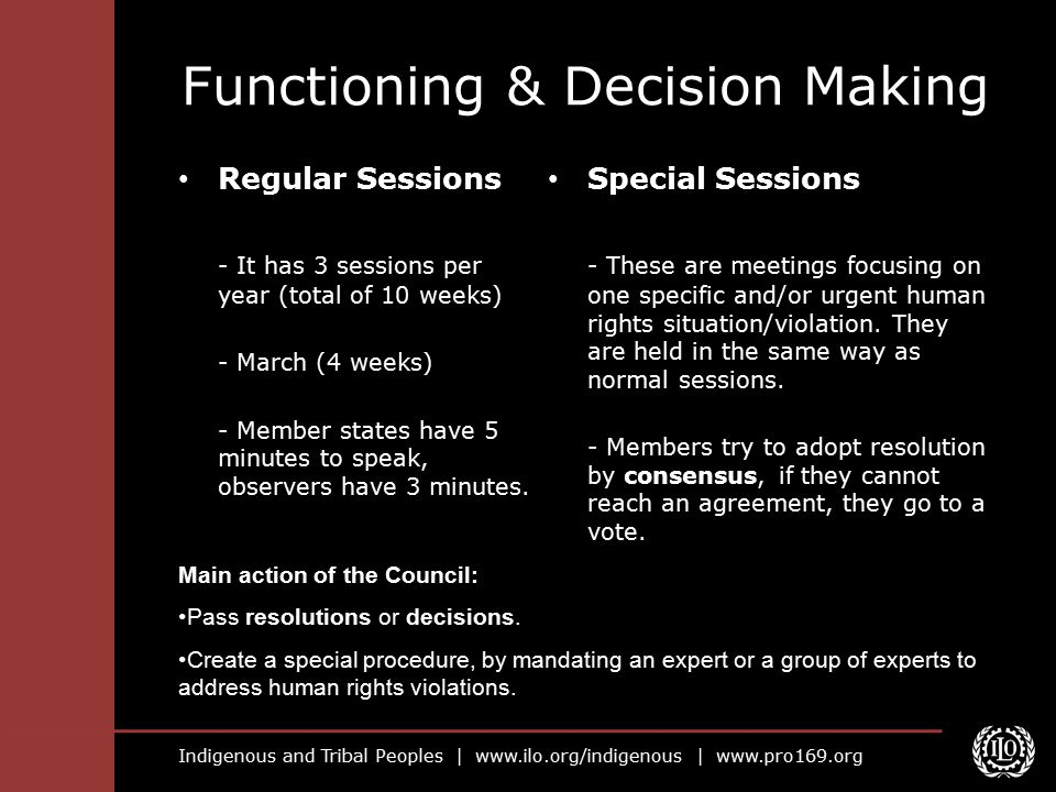 Functioning & Decision Making