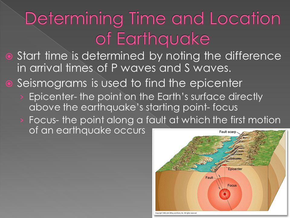 Determining Time and Location of Earthquake