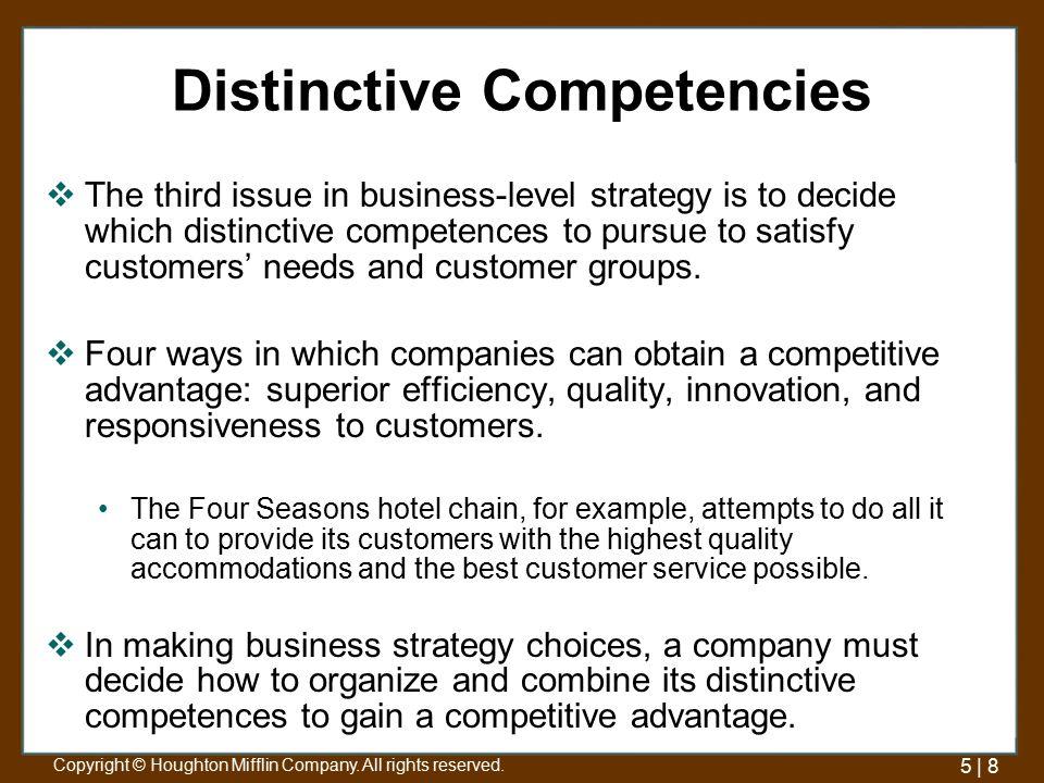 four seasons competitive advantage