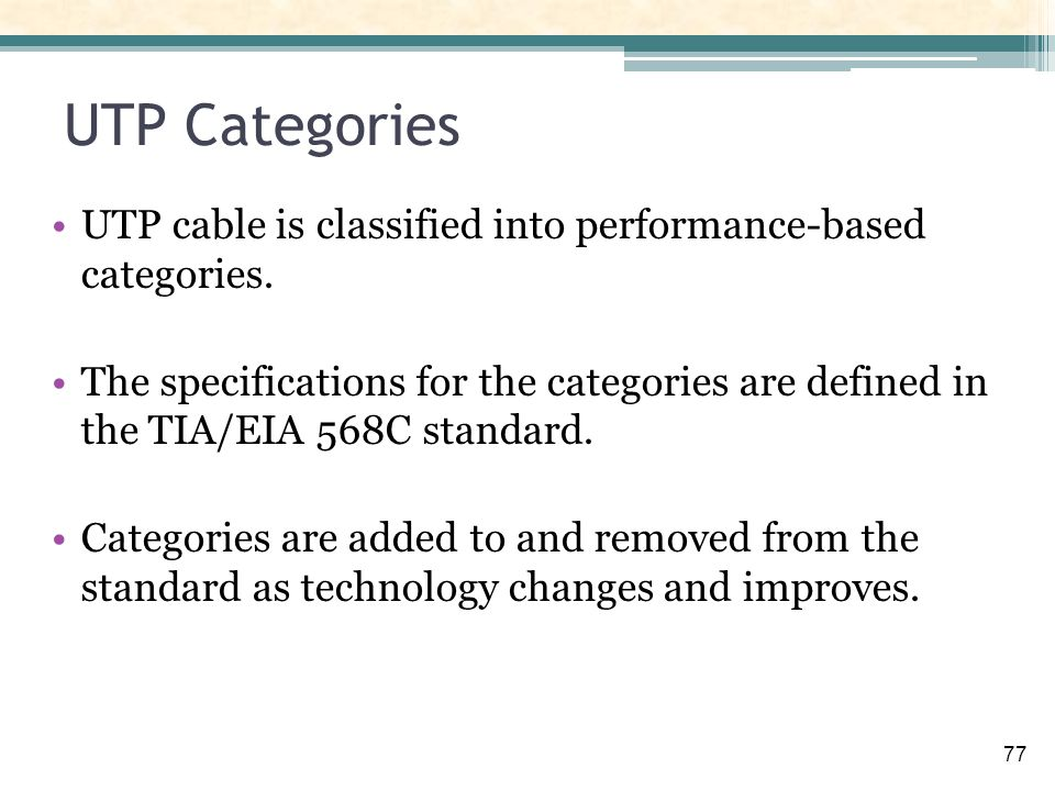 Cables And Cabling Infrastructure Ppt Download