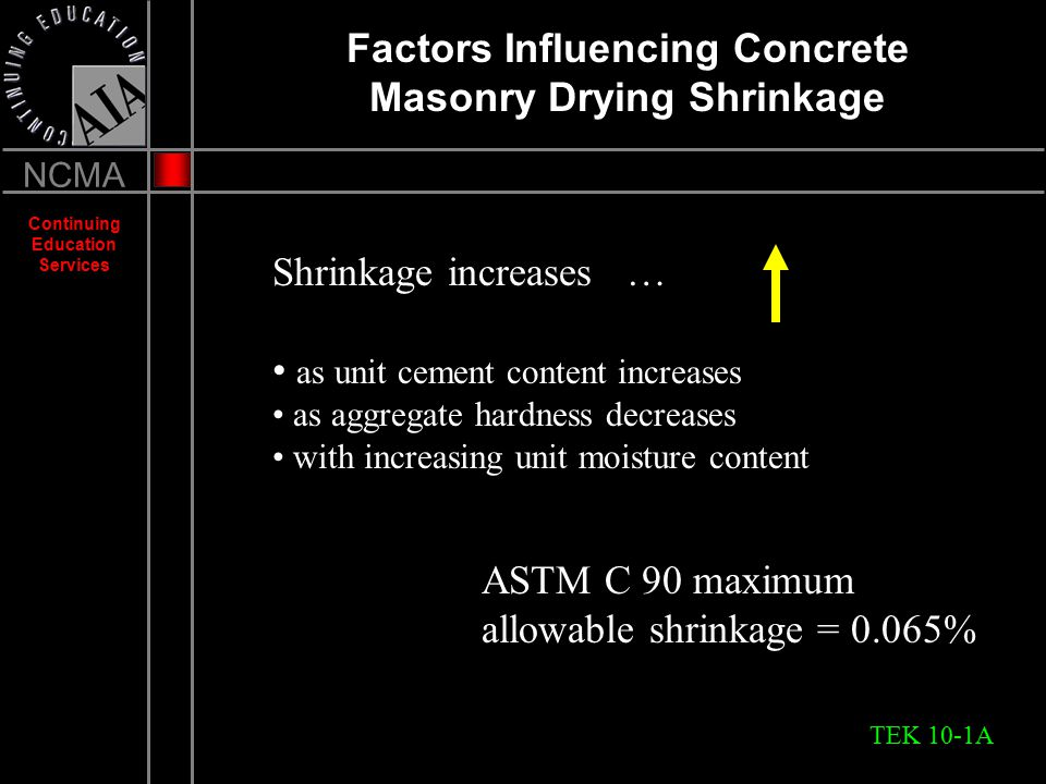 CRACK CONTROL IN CONCRETE MASONRY WALLS - ppt download