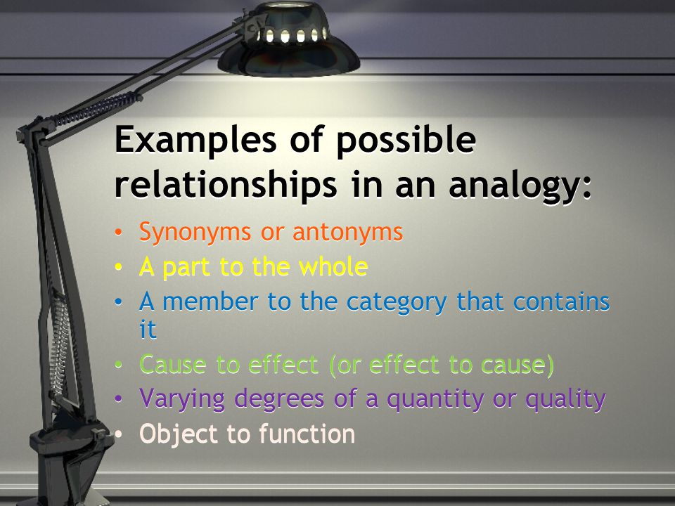 Working With Analogies Ppt Video Online Download
