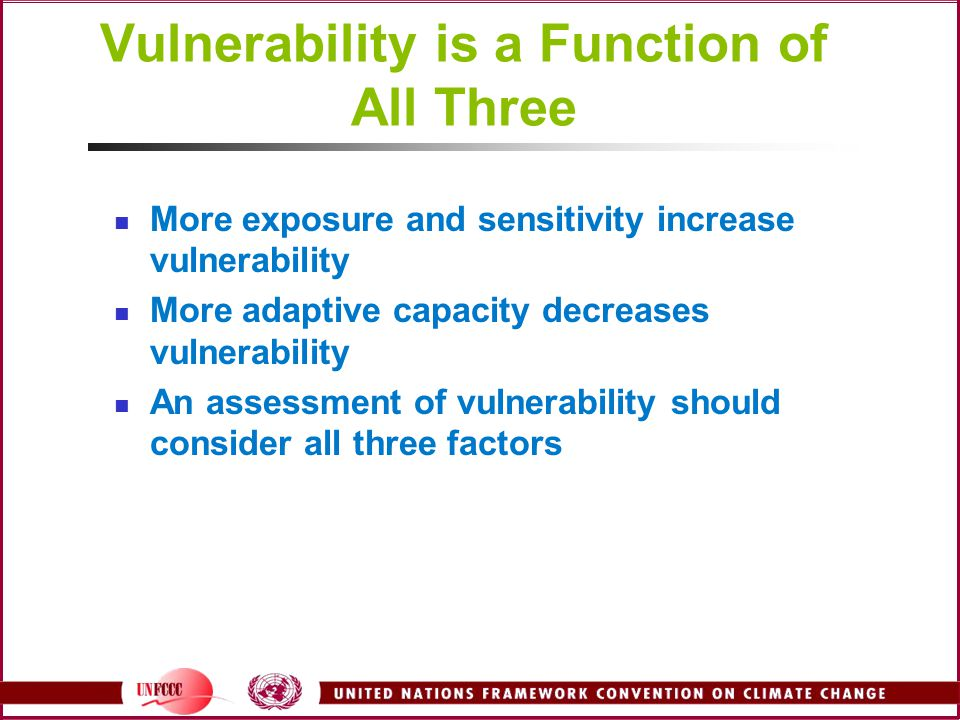 Vulnerability is a Function of All Three