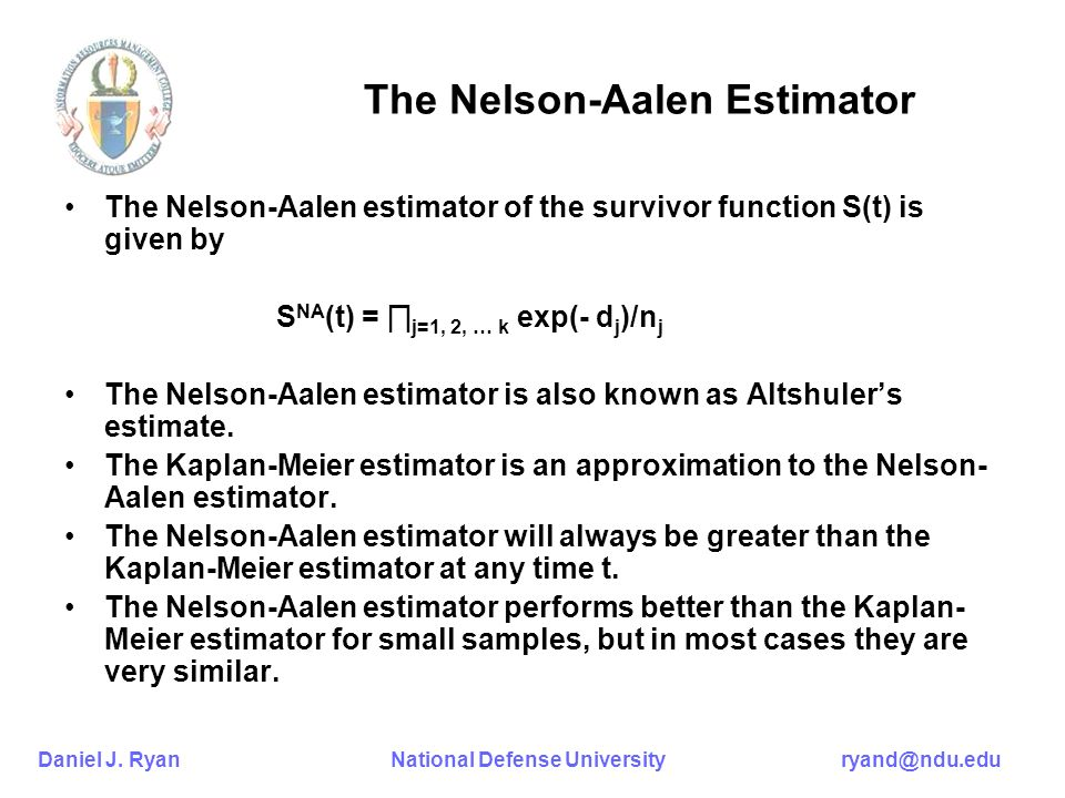 The Nelson-Aalen Estimator
