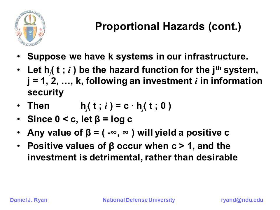 Proportional Hazards (cont.)