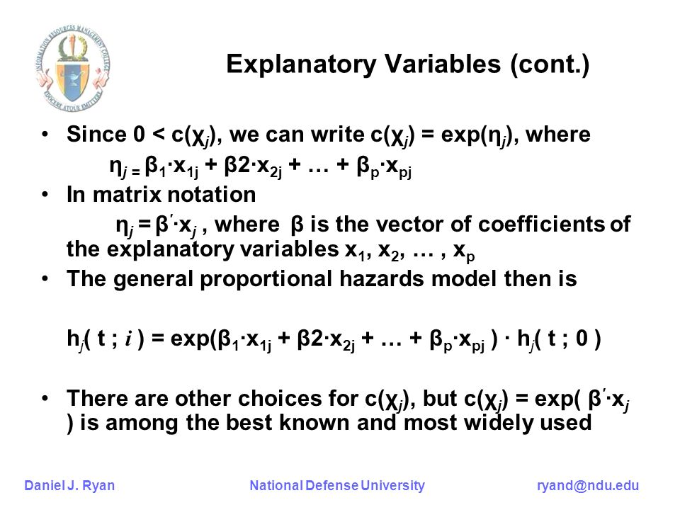Explanatory Variables (cont.)