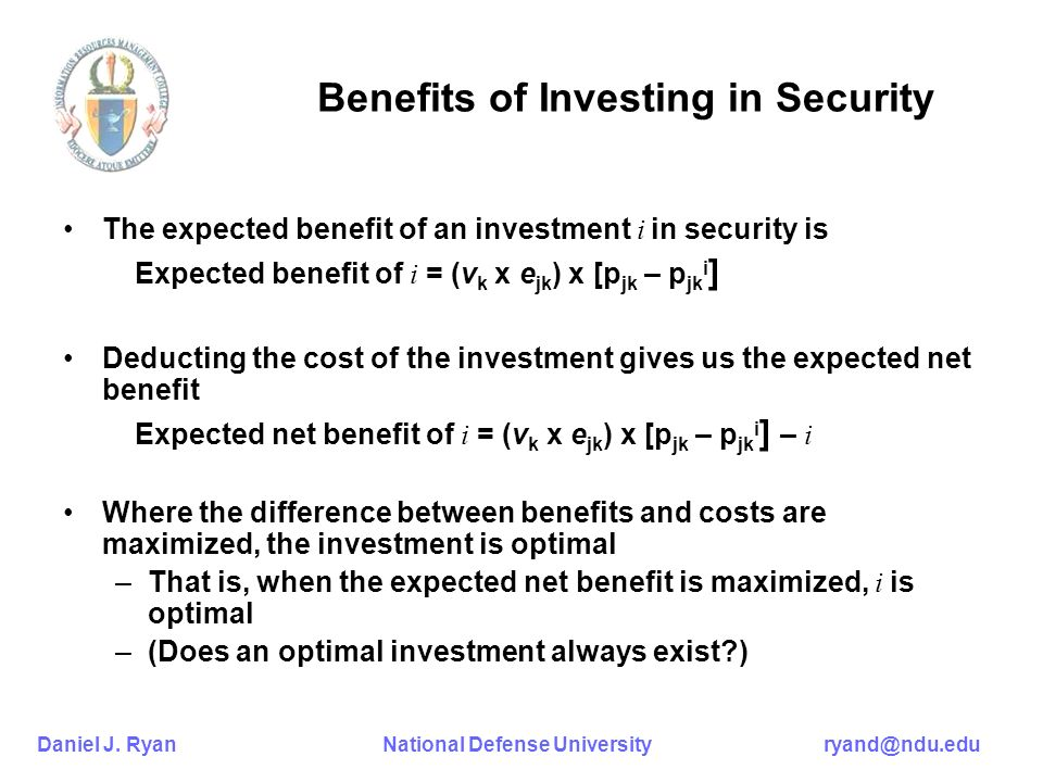 Benefits of Investing in Security