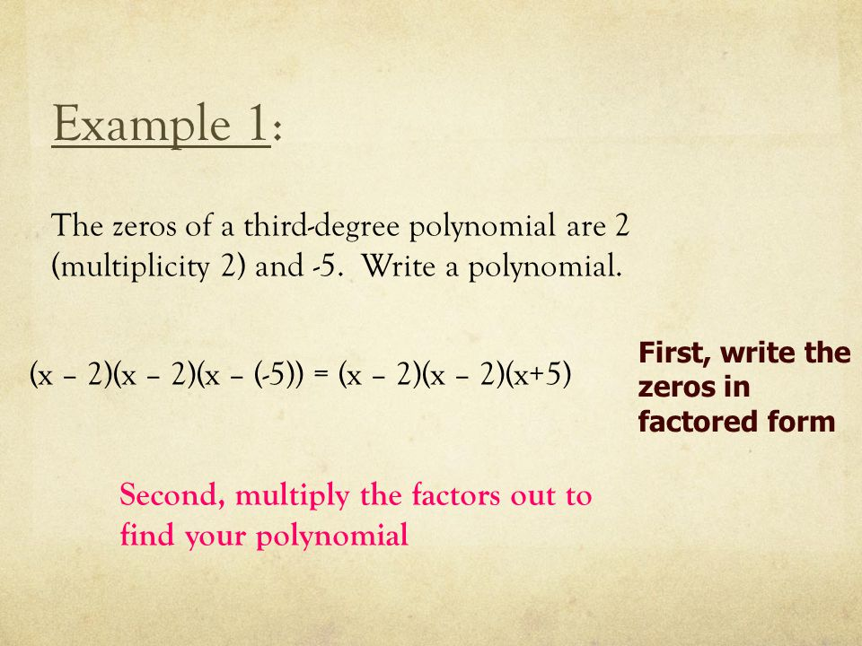 how to find zeros in factored form