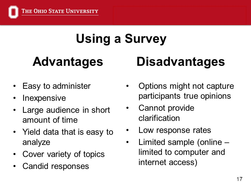 explain the advantages and disadvantages of using surveys for data collection uofye assessment retreat ppt download 8567