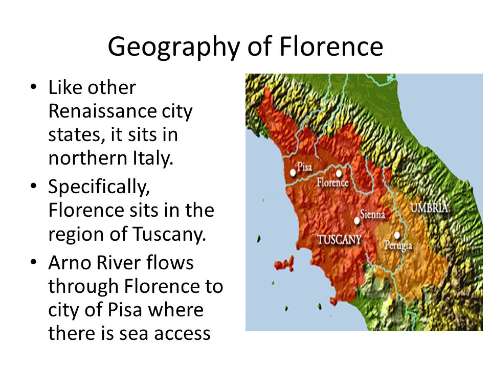 the impact of geography on the italian rennaisance The 16th century is marked by the spread of the cultural movement of the renaissancethis period is characterized, throughout italy, by the general renewal of all the arts.