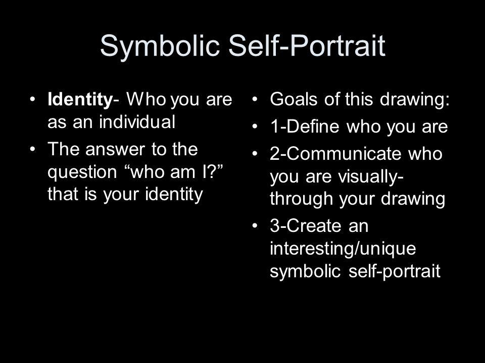 Self Portrait Definition A Portrait Of Your Self Duh Ppt Video