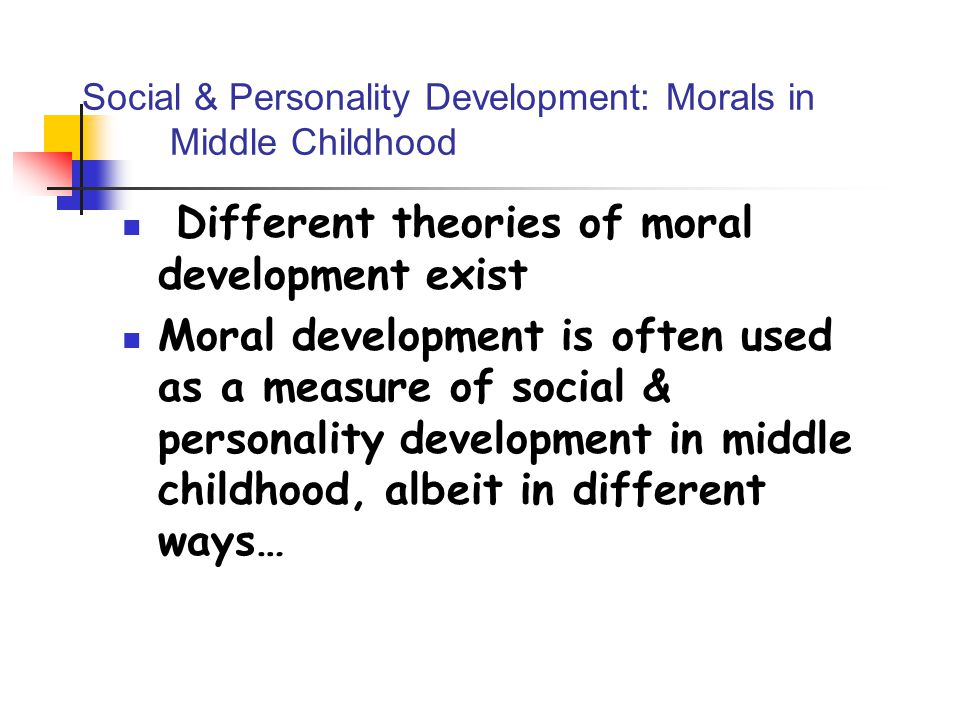 moral development 16 19 years