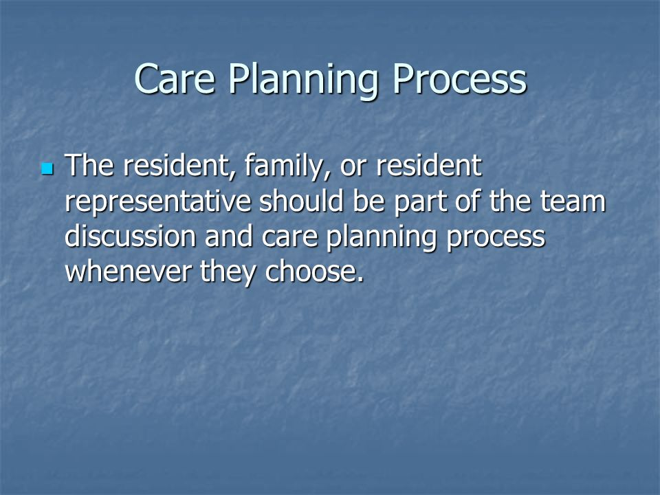 Care Planning Process