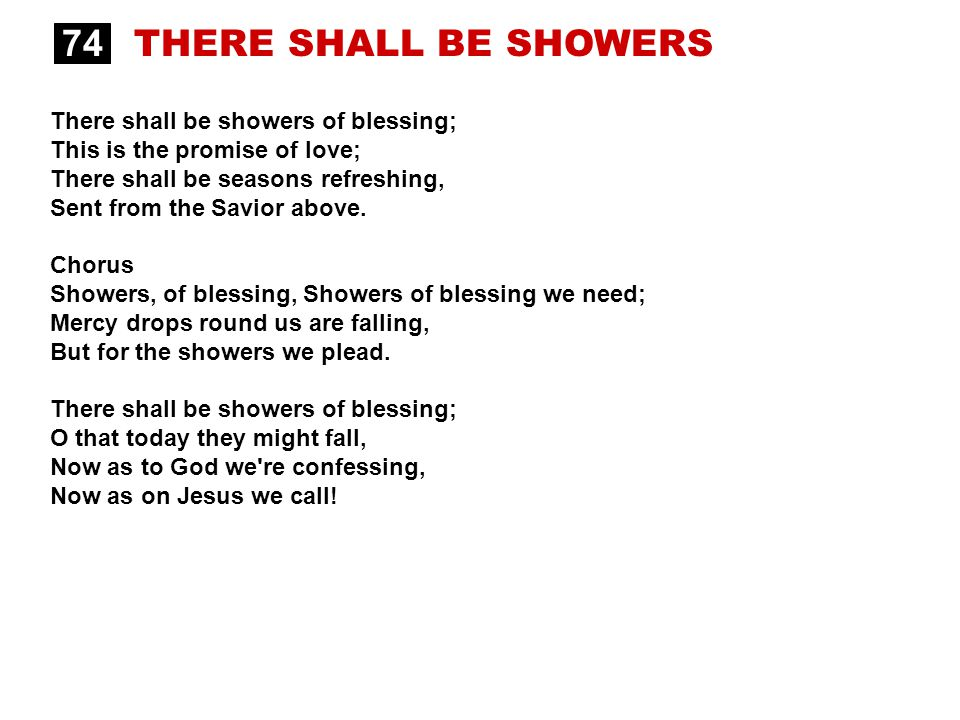 There Shall Be Showers Of Blessing Chords D Bruin Blog