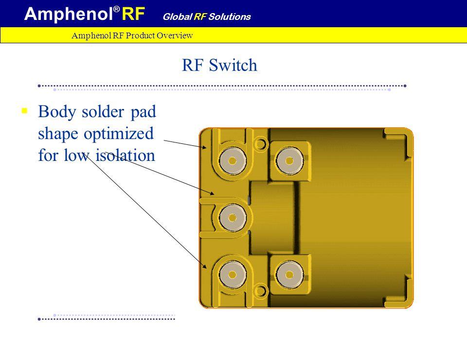 amphenol rf product information