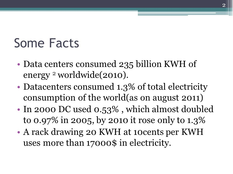 Energy Efficiency in Data Centers - ppt download