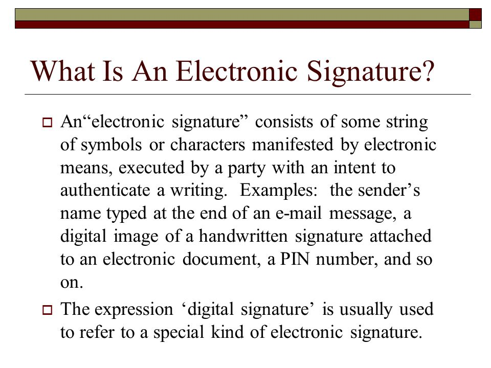 how to add an electronic signiture