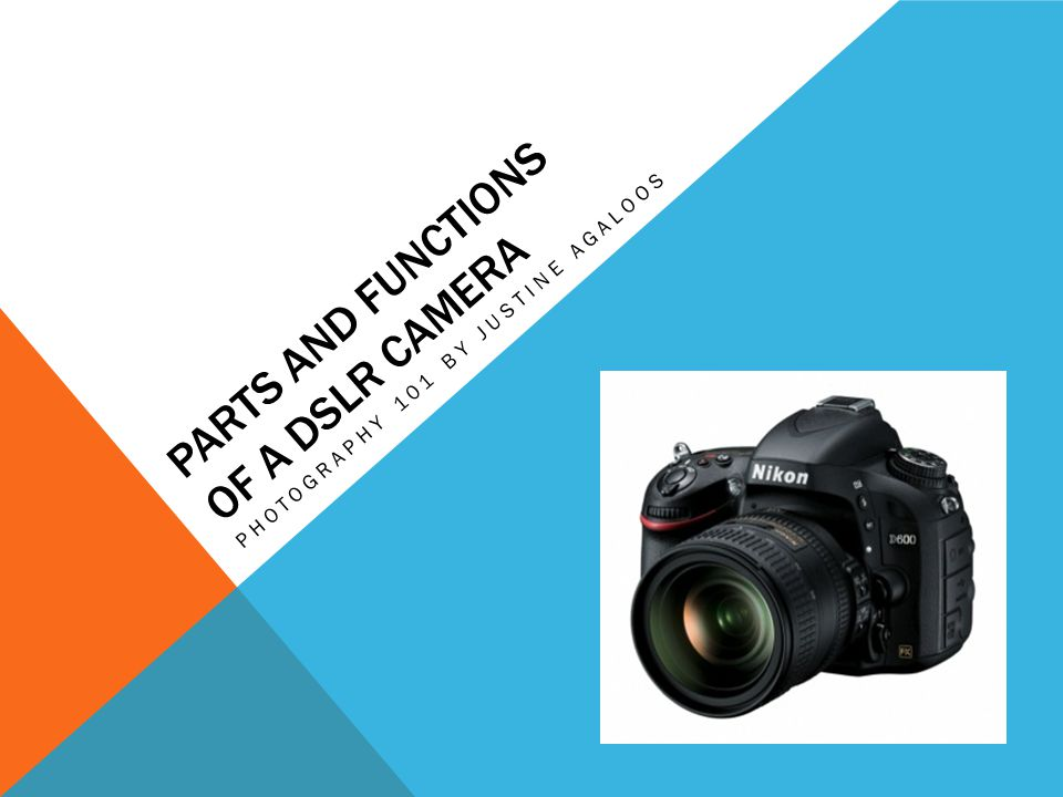 Parts And Functions Of A Dslr Camera Ppt Download