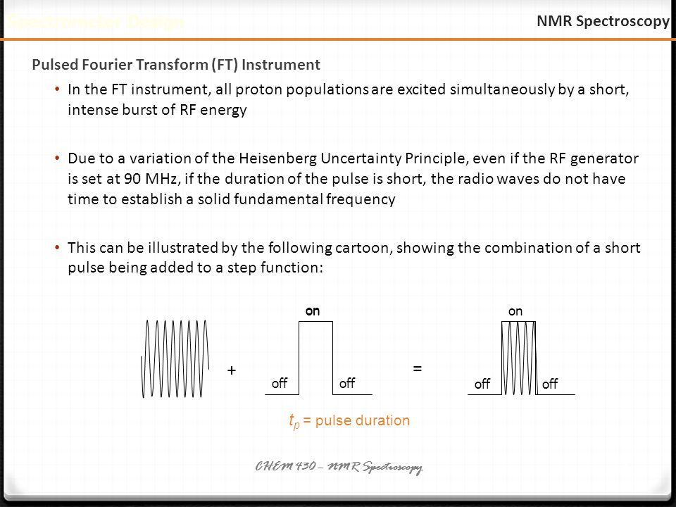instrumentation principle nmr spectroscopy