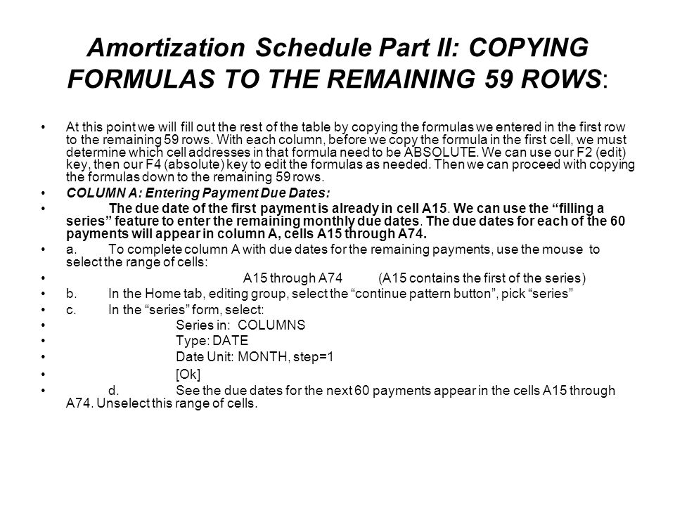 amortization schedule ppt download