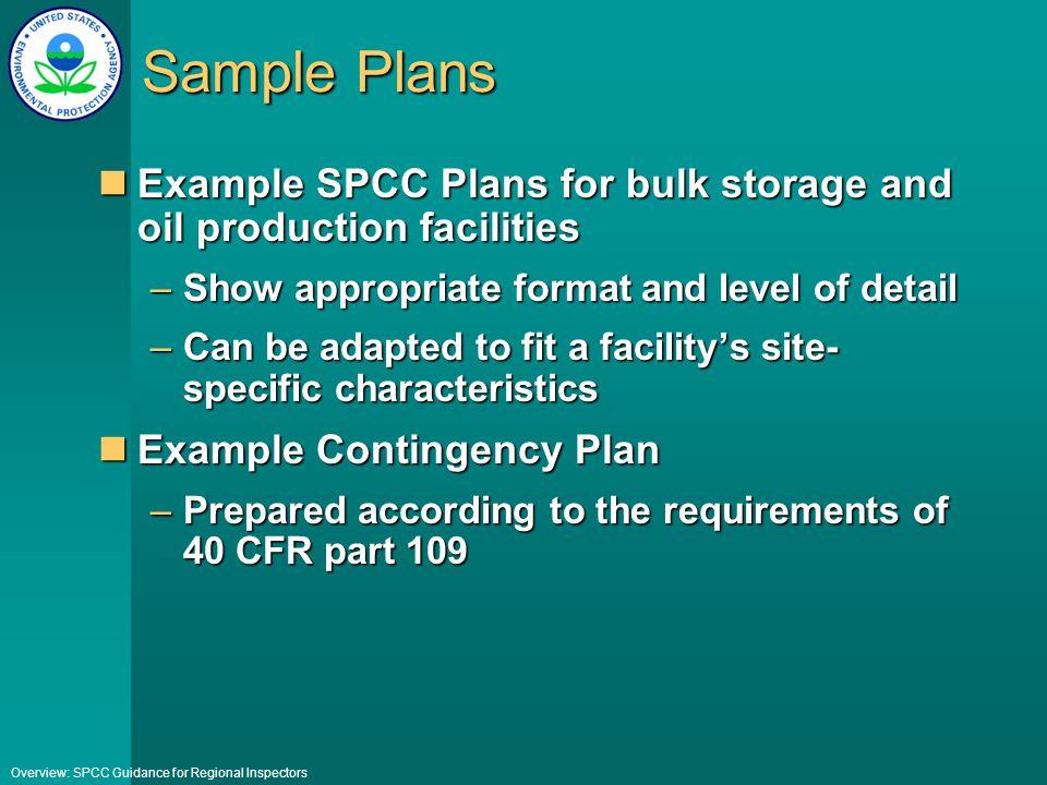 Spcc sample plan.