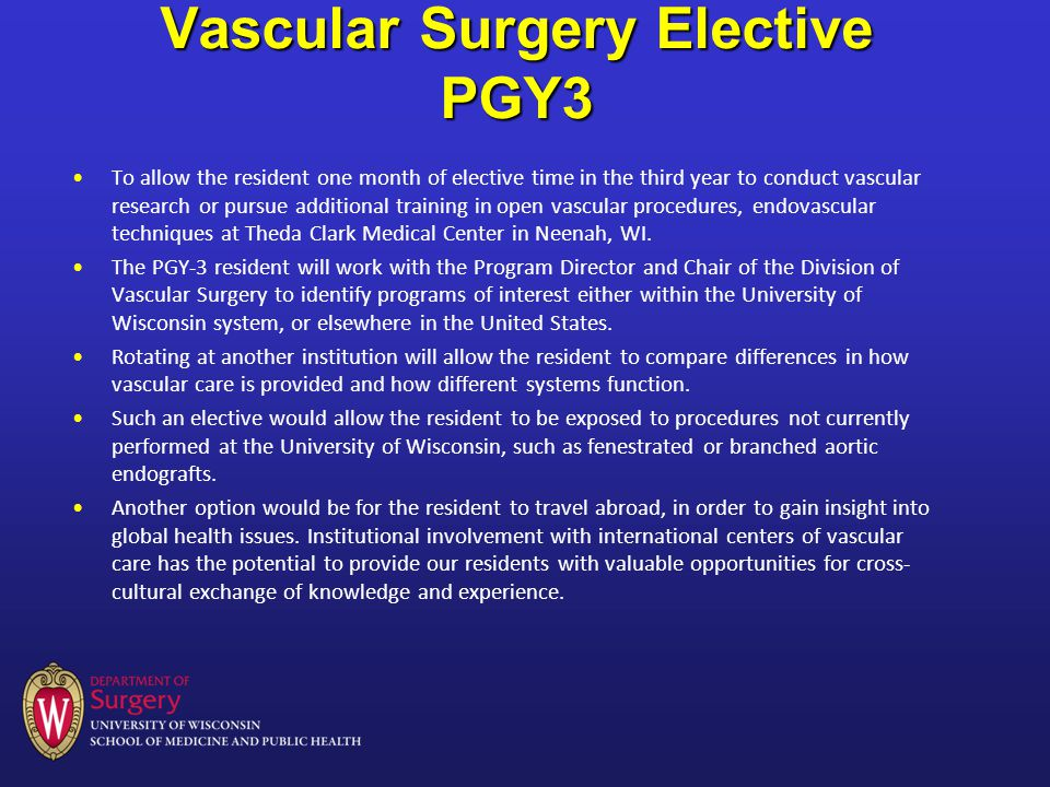 Vascular Surgery Residency and Fellowship