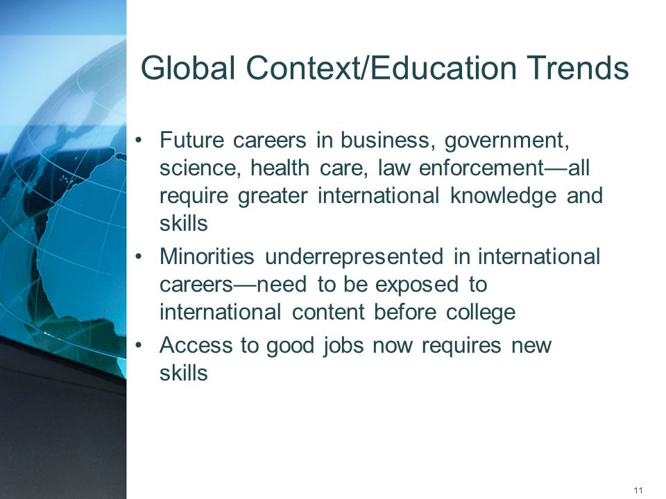 Global Context/Education Trends