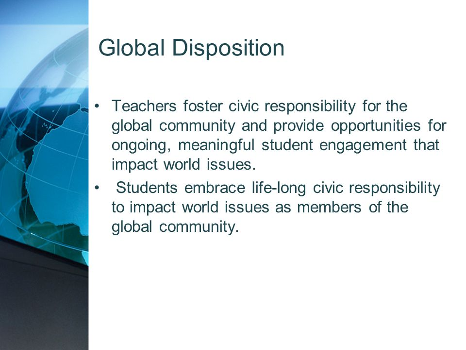 Global Disposition