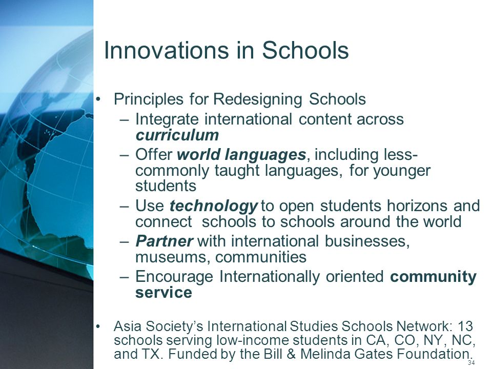 Innovations in Schools