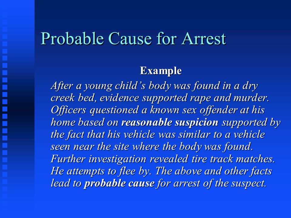 Probable Cause for Arrest