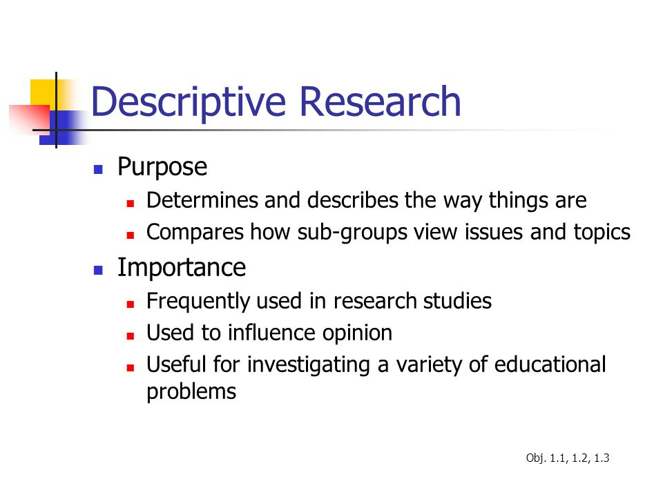 What Are Some Examples of Descriptive Research ...