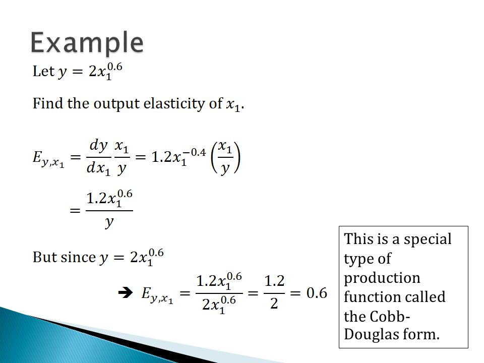 cobb douglas production function equation