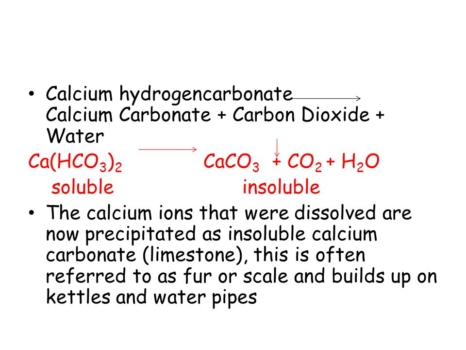 Is Calcium Carbonate Soluble In Water Water Ionizer