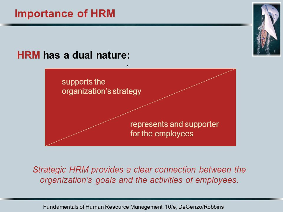 Importance of HRM HRM has a dual nature: