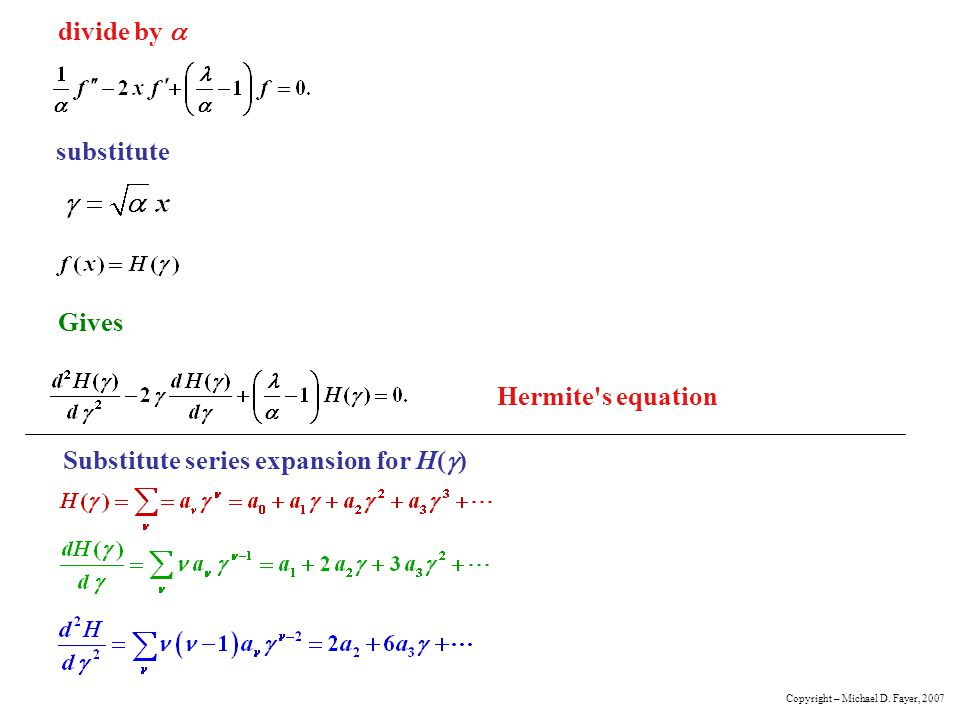 Substitute series expansion for H(g)