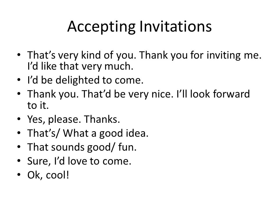 Social Interactions Inviting Responding To Invitations Ppt