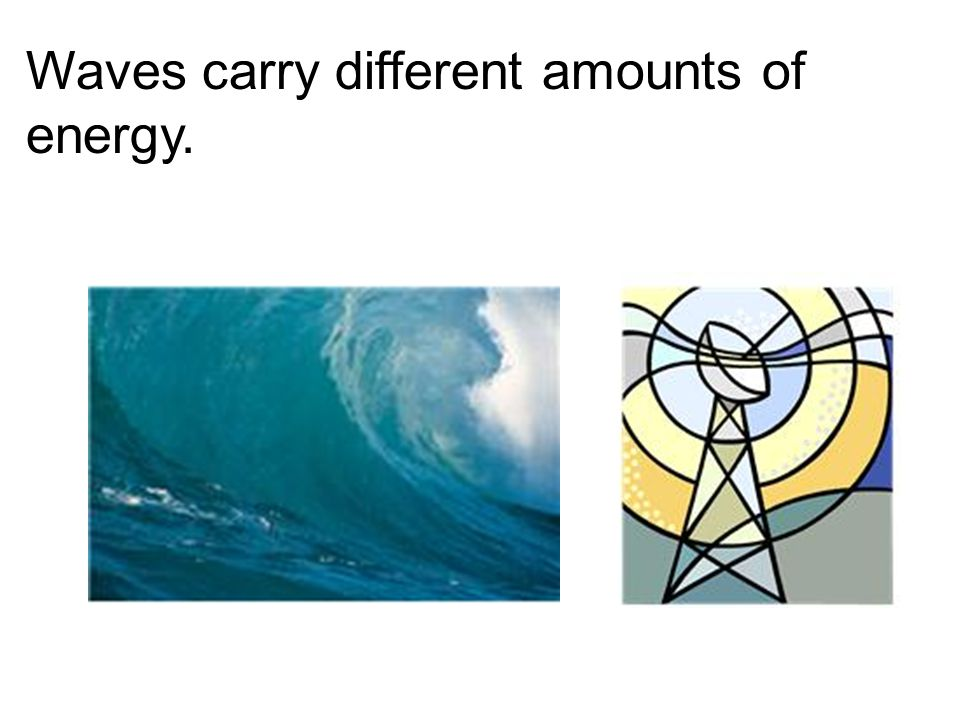 Waves carry different amounts of energy.