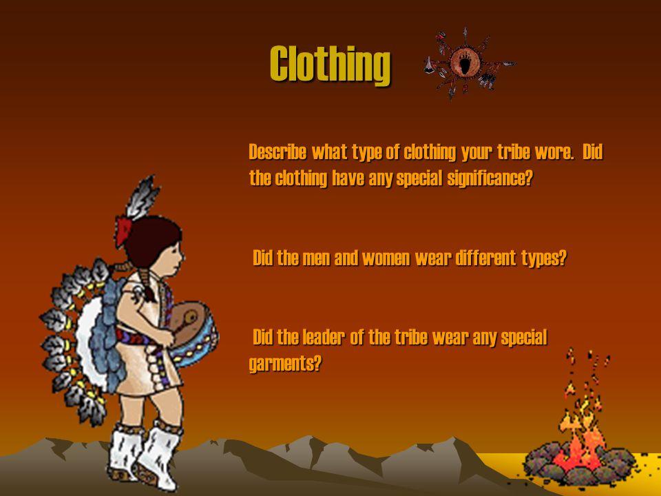 ottawa tribe clothing
