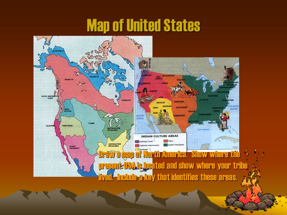 Map of United States Native American Tribes